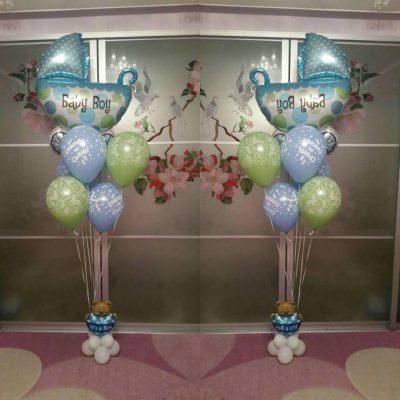 Воздушные шары на выписку из роддома