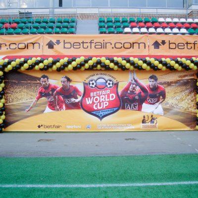 Украшение стадионов воздушными шарами
