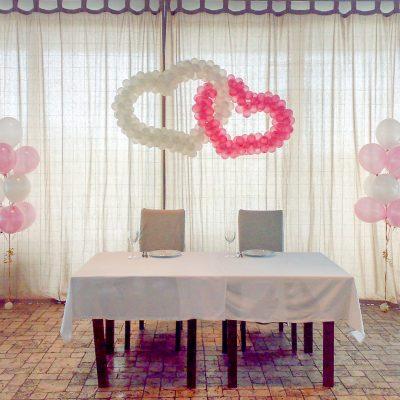 Украшение свадебного мероприятия воздушными шарами