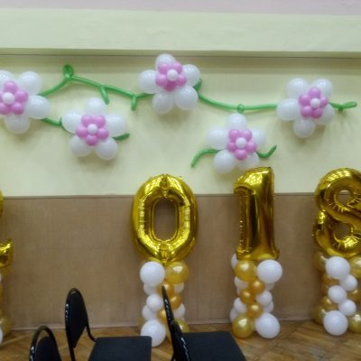Воздушные шары на выпускной и последний звонок